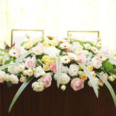 メインテーブル装花画像