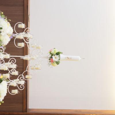 メインキャンドル装花画像